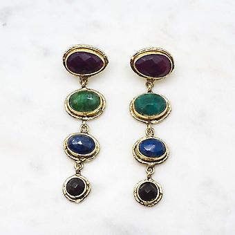 Boucles d?oreilles Niiki Paris - NCE026 - Marron - Collection Colors