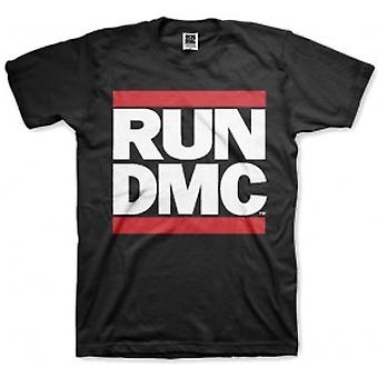 Run DMC Logo Black Mens T Shirt: Small