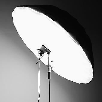 Čiernobiele reflexné dáždnikové štúdio osvetlenie s veľkým krytom difúzora
