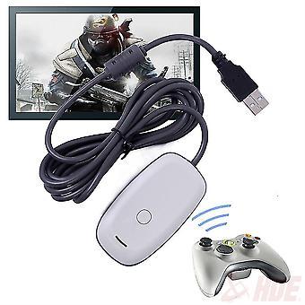 Sort/hvid pc Trådløs controller Gaming USB-modtageradapter til Xbox 360