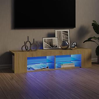 vidaXL TV-kaappi LED-valoilla Sonoma tammi 135x39x30 cm
