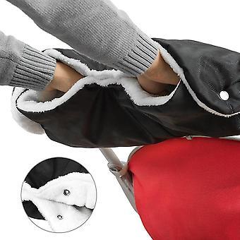 Kinderwagen Handschuhe Handwärmer Kinderwagenmuff Funktions-Handmuff mit Fleece Innenseite,