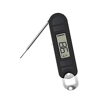 Digital Food Thermometer With Foldabe Probe, Lcd Screen -20~250℃ Bbq Grill Monitor With Bottle
