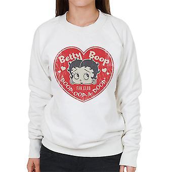 Betty Boop Oop A Doop Love Heart Women's Sweatshirt