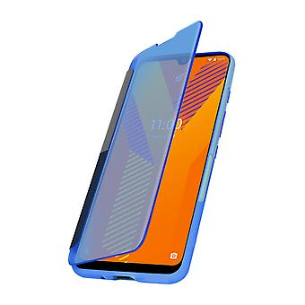 Cover for Wiko Y62 Translucent Window and Touch Wiko Easy Folio dark blue