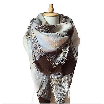 Cashmere Double-sided Color Plaid Scarf Lady Shawl(S2)