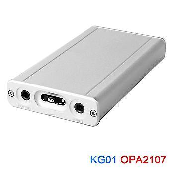 Kg01 mini hifi class a portable headphone amplifier opa2107 audio amp(Silver)