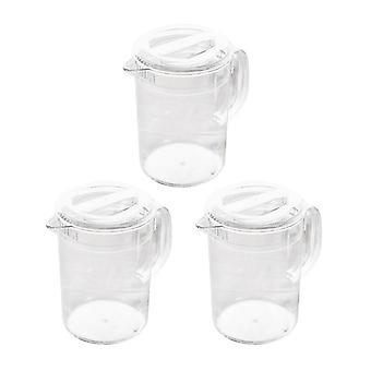 Acrylic Pitcher With Lid For Water Tea Lemonade & Milk Storage