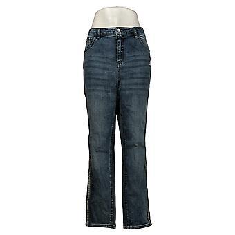 G بواسطة جوليانا المرأة الجينز زائد الساق المستقيمة الأزرق 663697