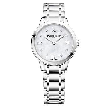 Baume & Mercier M0a10326 Classima Silver Stainless Steel Ladies Watch