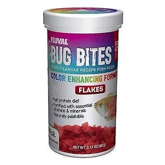 Fluval Bug Bites Hmyz Larvy Barva zvyšující rybí vločky - 3.17 oz