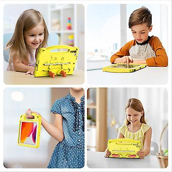 Case For Ipad 7 10.2 2019,shockproof Lightweight Convertible Handle Stand Protective Kids Child Cover - Yellow Panda