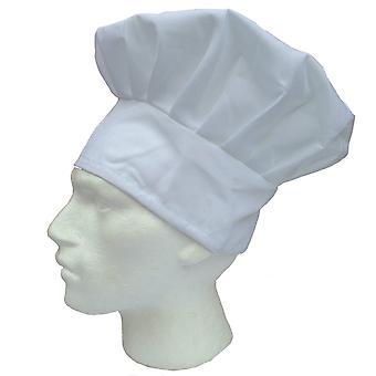 Adult chefs hat white kitchen cooking baker cap chef party cotton blend bbq