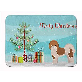 Bath mats rugs carolines treasures ck3853rug mal-shi christmas tree machine washable memory fo