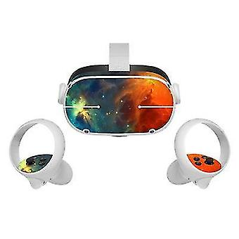 Pegatina de piel de vinilo para oculus quest 2 vr controlador de auriculares calcomanías de pvc linda cubierta de envoltura de dibujos animados para
