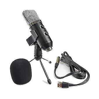USB-Nierenmikrofon, Stecker & Wiedergabe Kondensator AufnahmeMikrofon für PC Laptop, Youtube