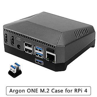 Argon en m.2 aluminium sag til hindbær pi 4 model b med m.2 ssd ekspansion slot gpio dække