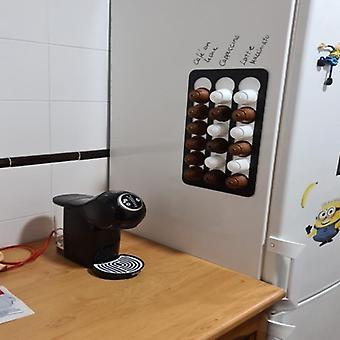 חדש יכול להחזיק עד 18 דולצ'ה Gusto קפה כמוסות אחסון מתלה אחסון קיר אחסון אלומיניום סוגר קפה מחזיק קפסולה
