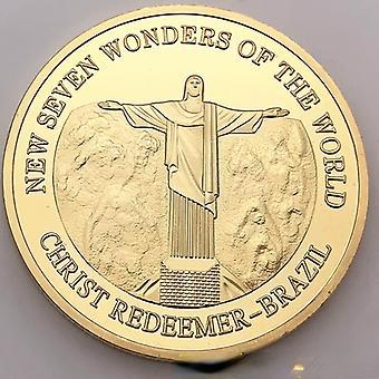 Kulturelle Sammlung Münze Große Mauer Münze Brasilien Peru Römische Münze Sieben Wunder Abzeichen Gedenkmünze