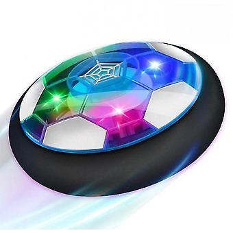 Gyermek játék légpárnás foci, újratölthető levegős labdarúgás kültéri ledes labdarúgó korong játék