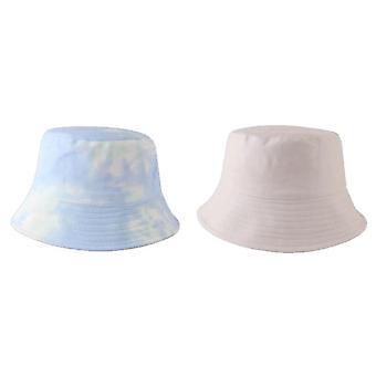 Tie Dye Chapéu de Balde Reversível Para Mulheres Adolescentes