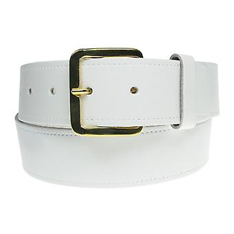 """Bullet 69 1½"""" Leather Belt With Gold Buckle"""