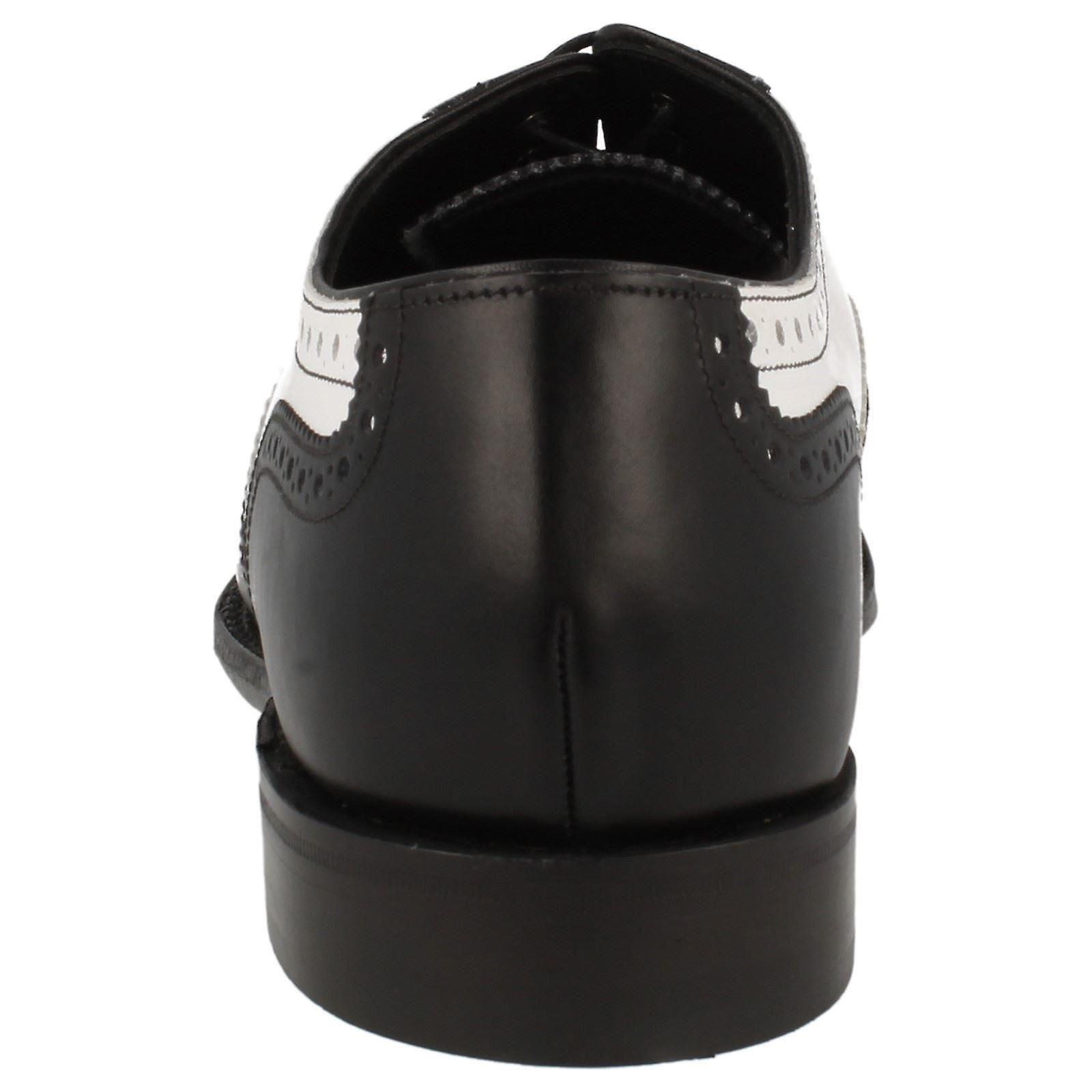 Mens Loake Classic to Tone aksent lisse opp sko - Sloane