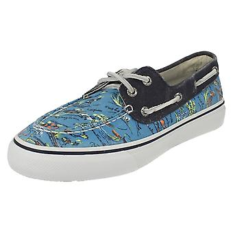 Mens Sperry Top Sider Canvas Pumps Bahama 2 Eye