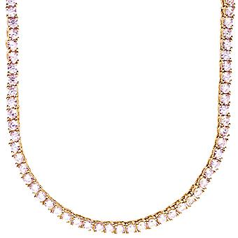 Premium bling - Sterling 925 Silver CZ necklace - 3mm gold