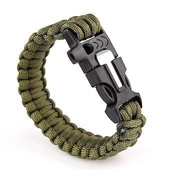 متعددة الوظائف في الهواء الطلق صافرة سوار باراكورد بقاء ث فلينت النار كاتب مكشطة كيت--الجيش Boolavard® الأخضر TM