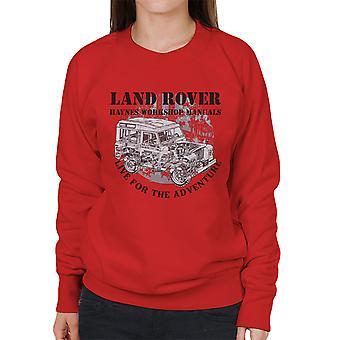 Haynes Owners Workshop Manual Land Rover Adventure Black Women's Sweatshirt