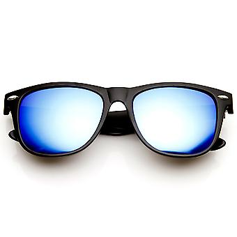 Duży róg oprawkach koloru refleksyjne lustro Flash soczewki okulary