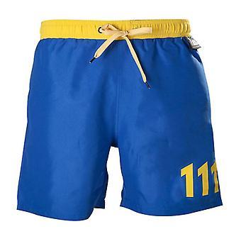 Fallout 111 Swim Trunks S Size  Blue/Yellow (SH301002FOT-S)