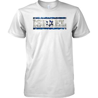 Israel-Grunge Land Name Flag-Effekt - Kinder T Shirt