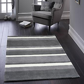 Boston Stripe Teppiche In grau