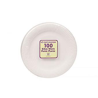 100szt białej płyty Party Talerze jednorazowe 23cm