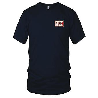 US Army - Blood Type A Negative Desert Embroidered Patch - Hook And Loop Mens T Shirt