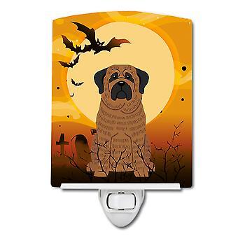 Carolines Treasures  BB4281CNL Halloween Mastiff Brindle Ceramic Night Light