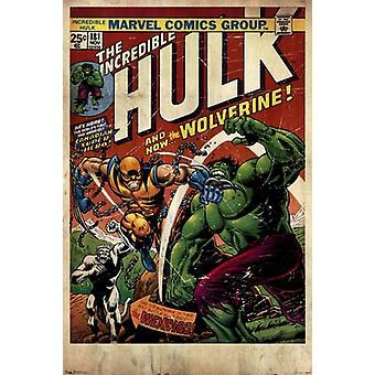 Hulk & Wolverine juliste Juliste Tulosta