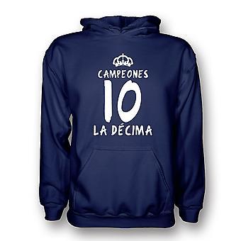 Real Madrid La Decima Hoody (námořnictvo)-děti