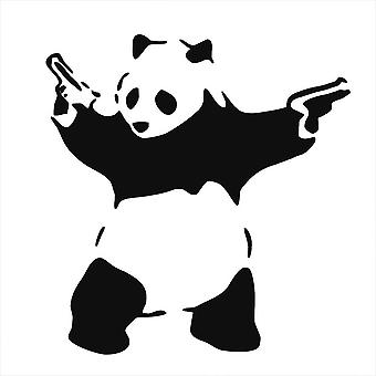 GNG Banksy Panda Childrens Wall Art Decal Vinyl Stickers Picture for Boys/Girls Bedroom