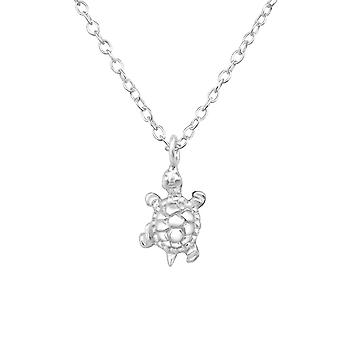 Turtle - 925 Sterling Silver Plain Necklaces - W34459x