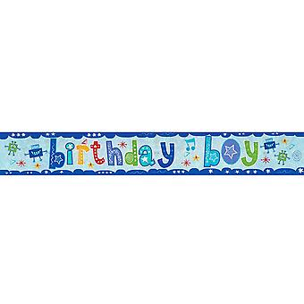 Amscan Birthday Boy Holographic Foil Banner