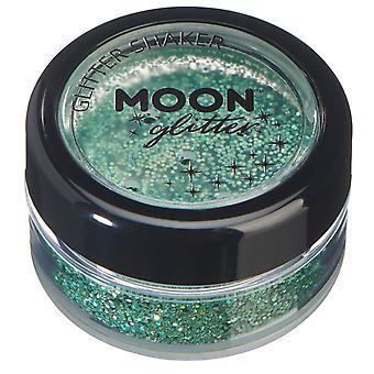 Holographic Glitter Schüttler vom Mond Glitter – 100 % kosmetische Glitter für Gesicht, Körper, Nägel, Haare und Lippen - 5g - grün