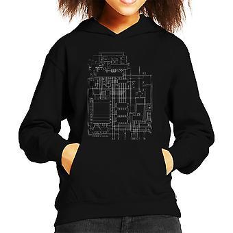 Le Commodore 64 ordinateur Kid schématique de Hooded Sweatshirt