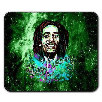 Dont Worry Marley Rasta  Non-Slip Mouse Mat Pad 24cm x 20cm | Wellcoda