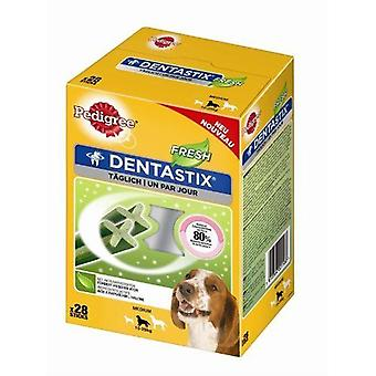Pedigree Dentastix Fresh hond behandelen Medium hond (10-25kg) 28stk x 4-pack
