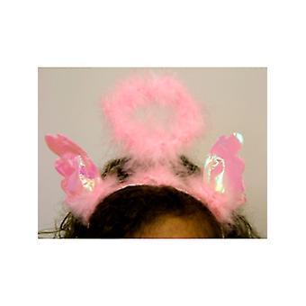Headbopper Furry rose avec des ailes iridescentes et Angel Halo