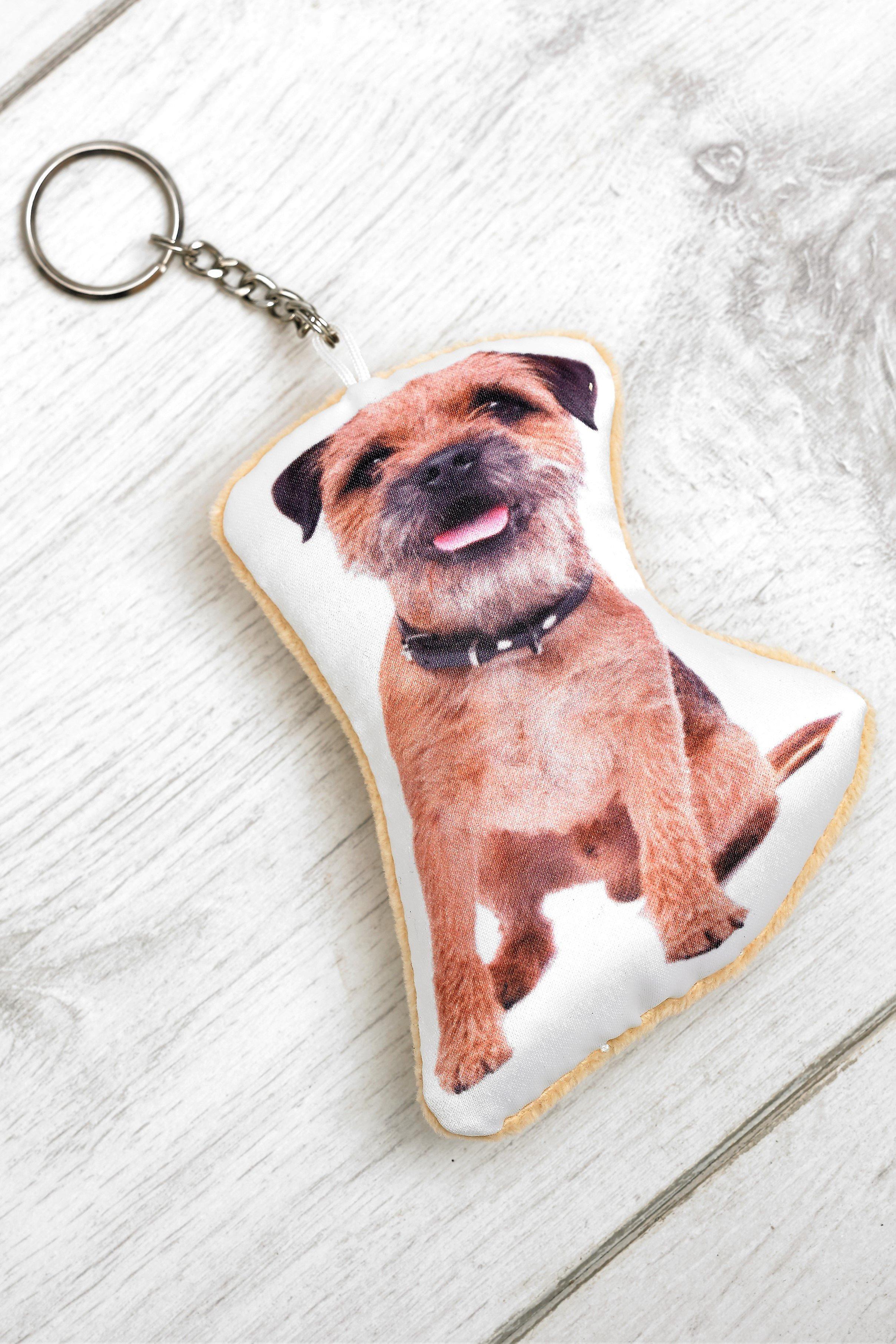 Adorable border terrier shaped keyring