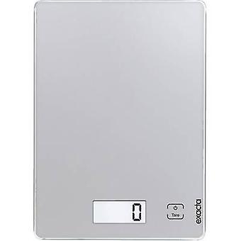 Soehnle täsmällinen koskettaa digitaalinen keittiövaakaa digitaalinen paino alue = 5 kg hopeaa